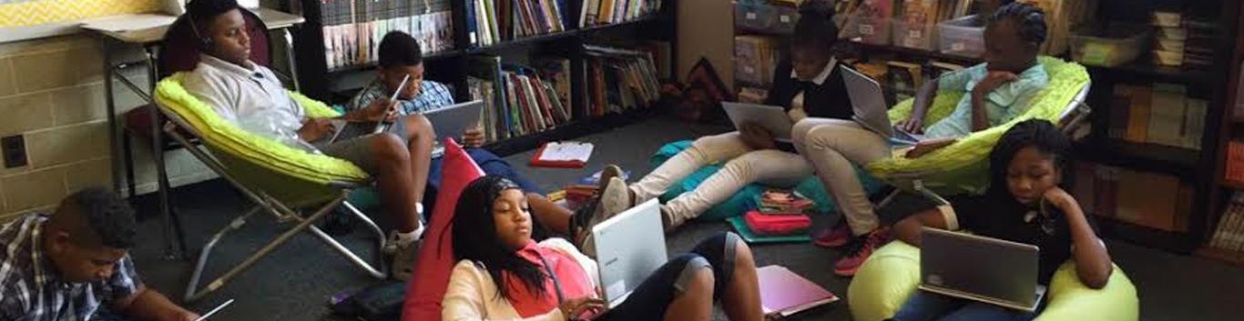 Creston Students on computers