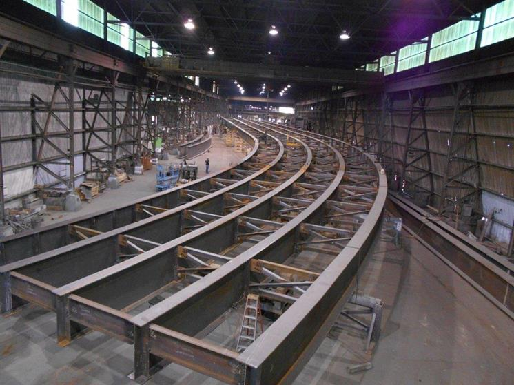 Steel Plate Girder Fabrication in Milwaukee, Wisconsin (Wabash Steel)