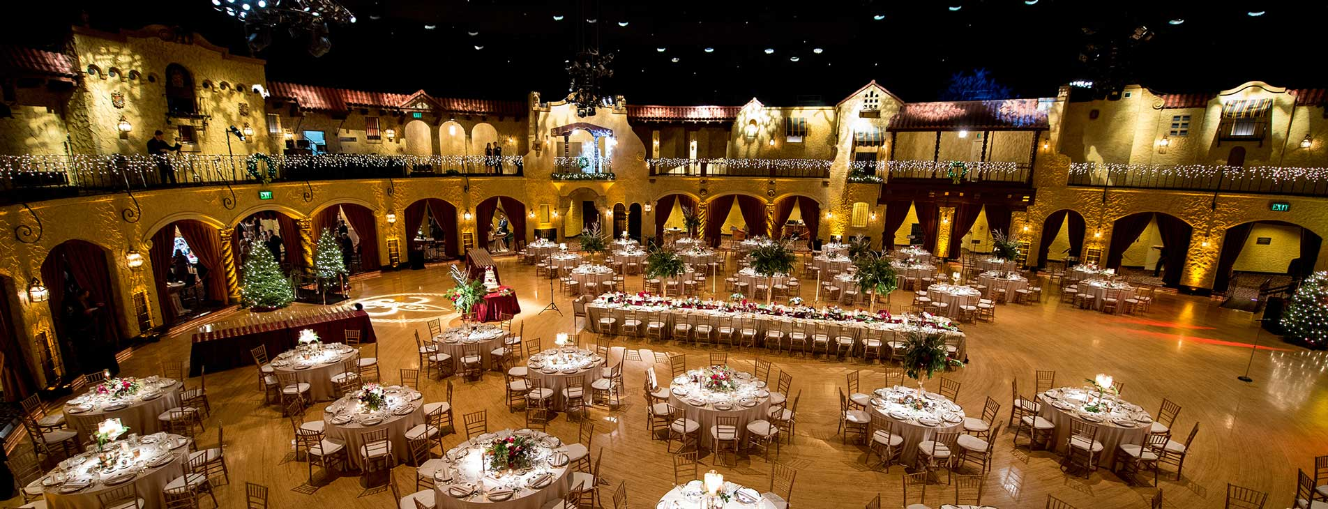 Indiana Roof Ballroom Venue hosting a Wedding by Crystal Catering
