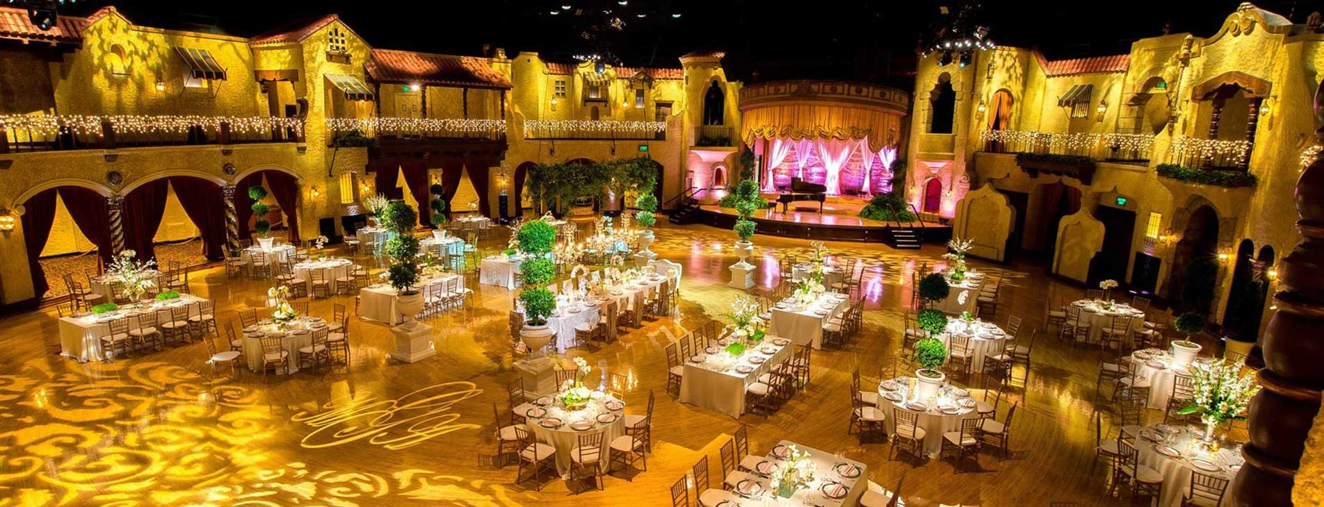 Indiana Roof Ballroom Venue ready for a Wedding Event in Indianapolis by Crystal Catering