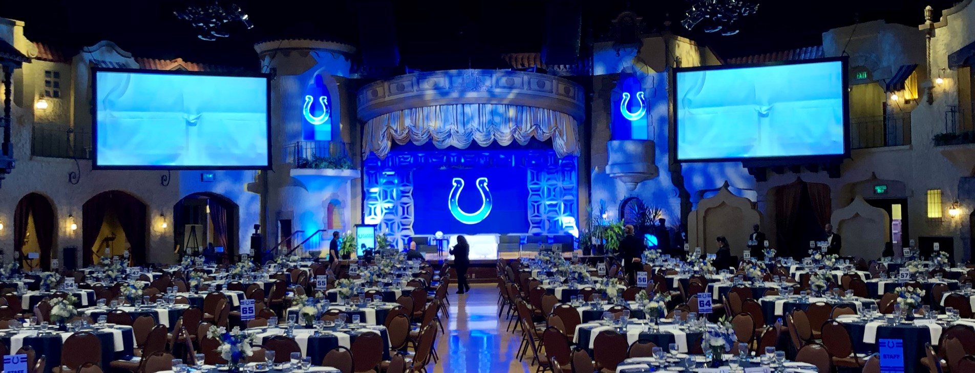 Indianapolis Colts corporate event for 750 people at the Indiana Roof Ballroom and Event Center