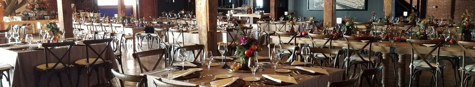 fall wedding reception at n.k. hurst building in downtown Indianapolis