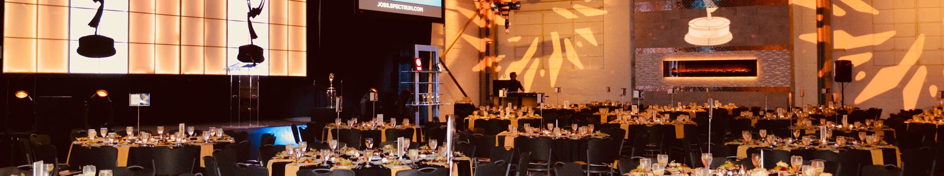 Crane Bay venue set up for an awards function for a corporate event