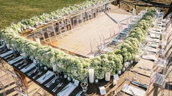 Outdoor Wedding with U-Shaped Seating Arrangement