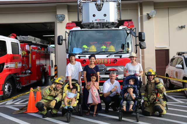 Firefighters and their family