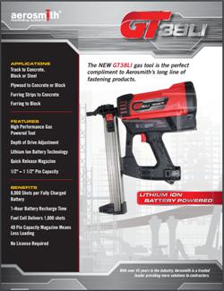Image of the GT38Li Sell Sheet