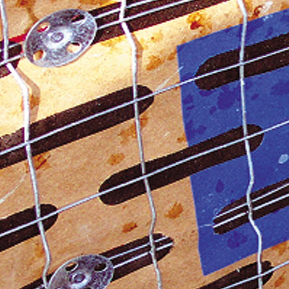 Wire Diamond Lath To Steel And Concrete Fasteners