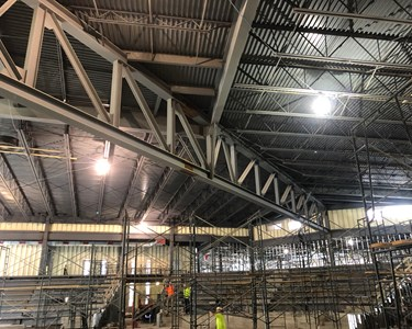 2018-02-15 Christ Church jobsite visit (1) - truss