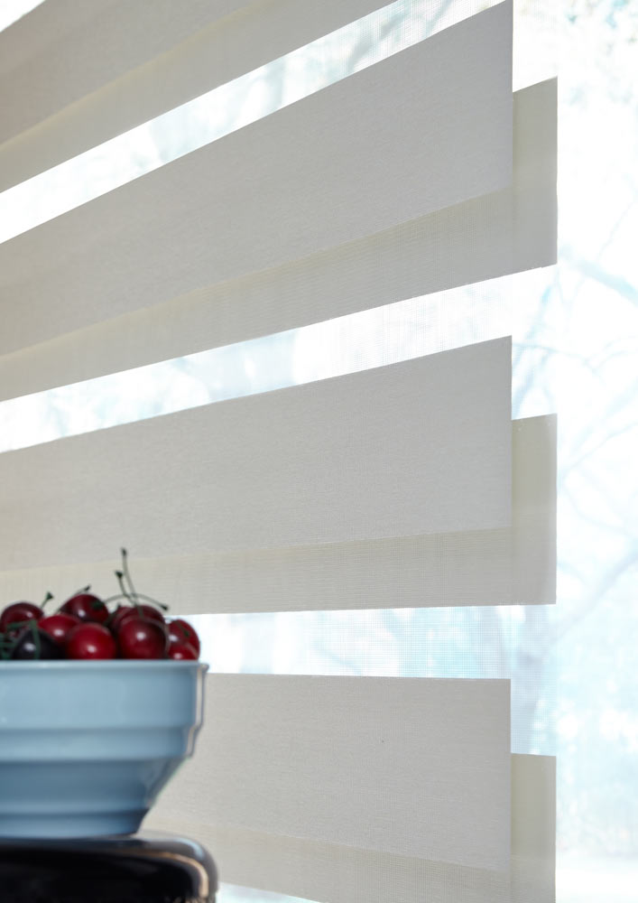 close up view of white Allure® Transitional Shade material