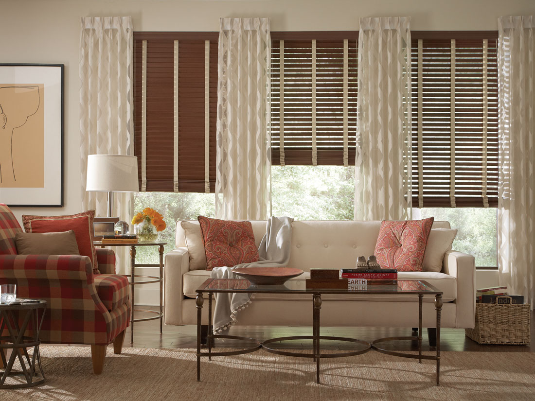 Fidelis® Faux Wood Blinds & Interior Masterpieces® Custom Pillows