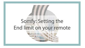 Setting end limit somfy remote