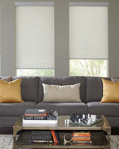 Roller Roman Shades Living Room image