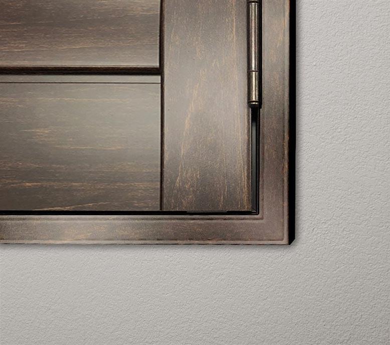 Stained-Parke-L-frame-dark-walnut