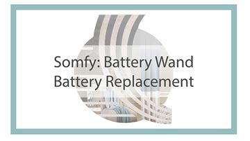 Somfy battery wand replacement