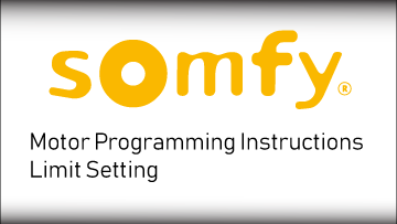 Somfy Limit Setting
