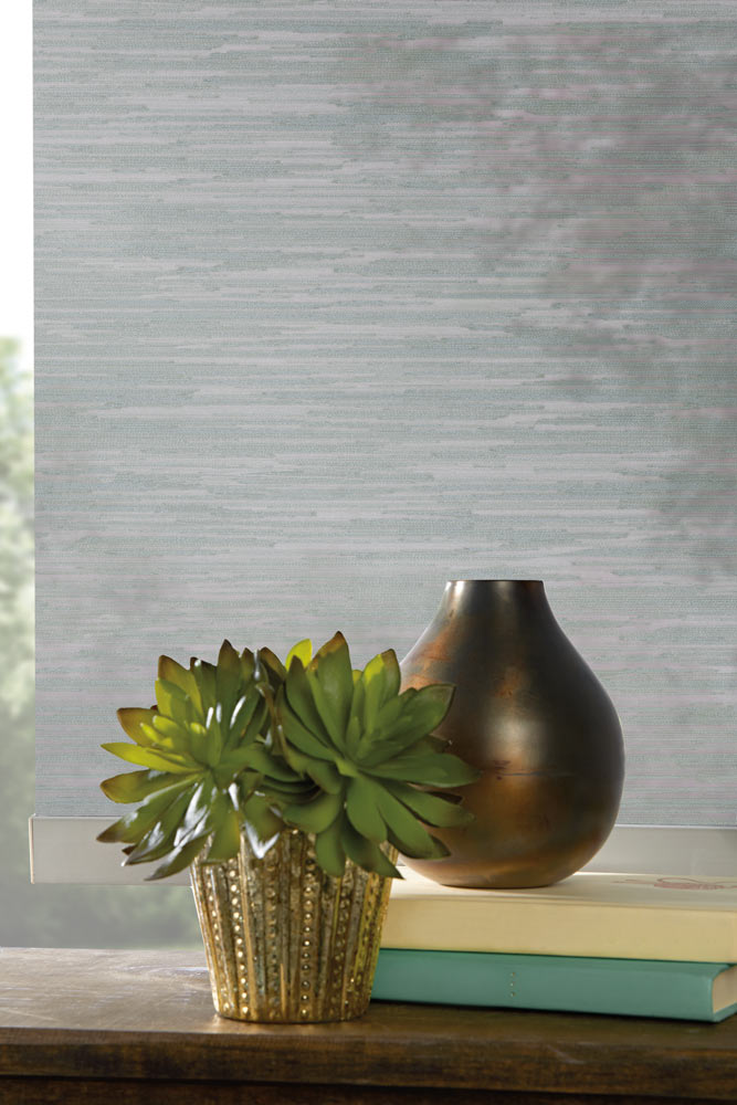 close up of a gray Genesis® Custom Roller Shade