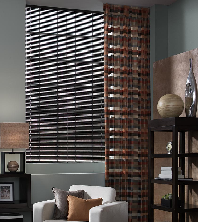 Classic Collection® Aluminum Blinds & Interior Masterpieces® Draperies and Custom Pillows
