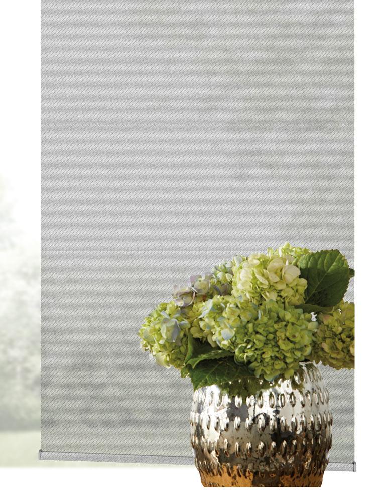 close up view of light gray Genesis® Custom Shades material