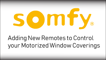Somfy Add Remotes Video