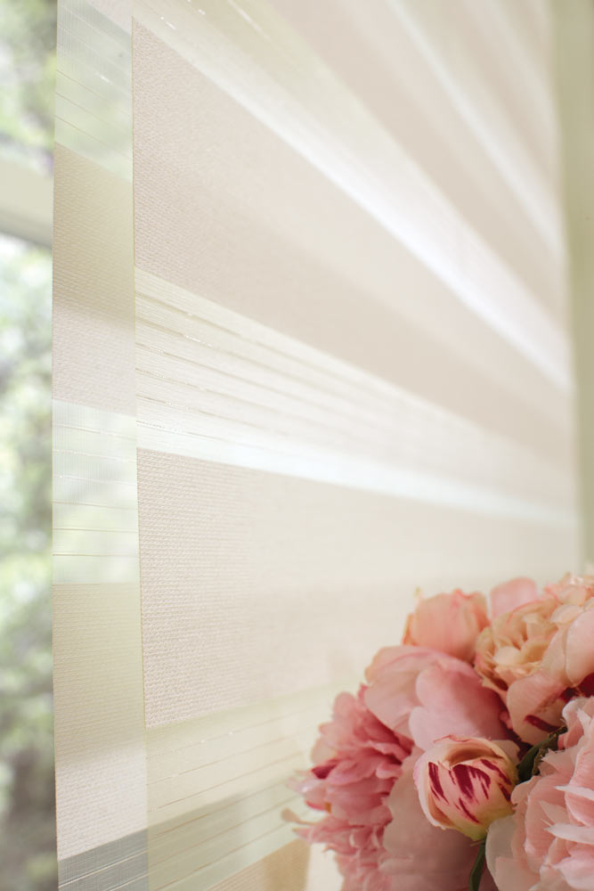 close up of a cream colored Allure® Transitional Shade material
