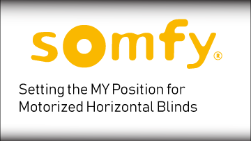 Somfy Set MY Position