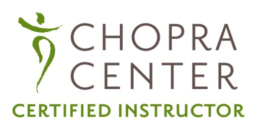 Dr. Centers is a certified instructor by the Chopra Center