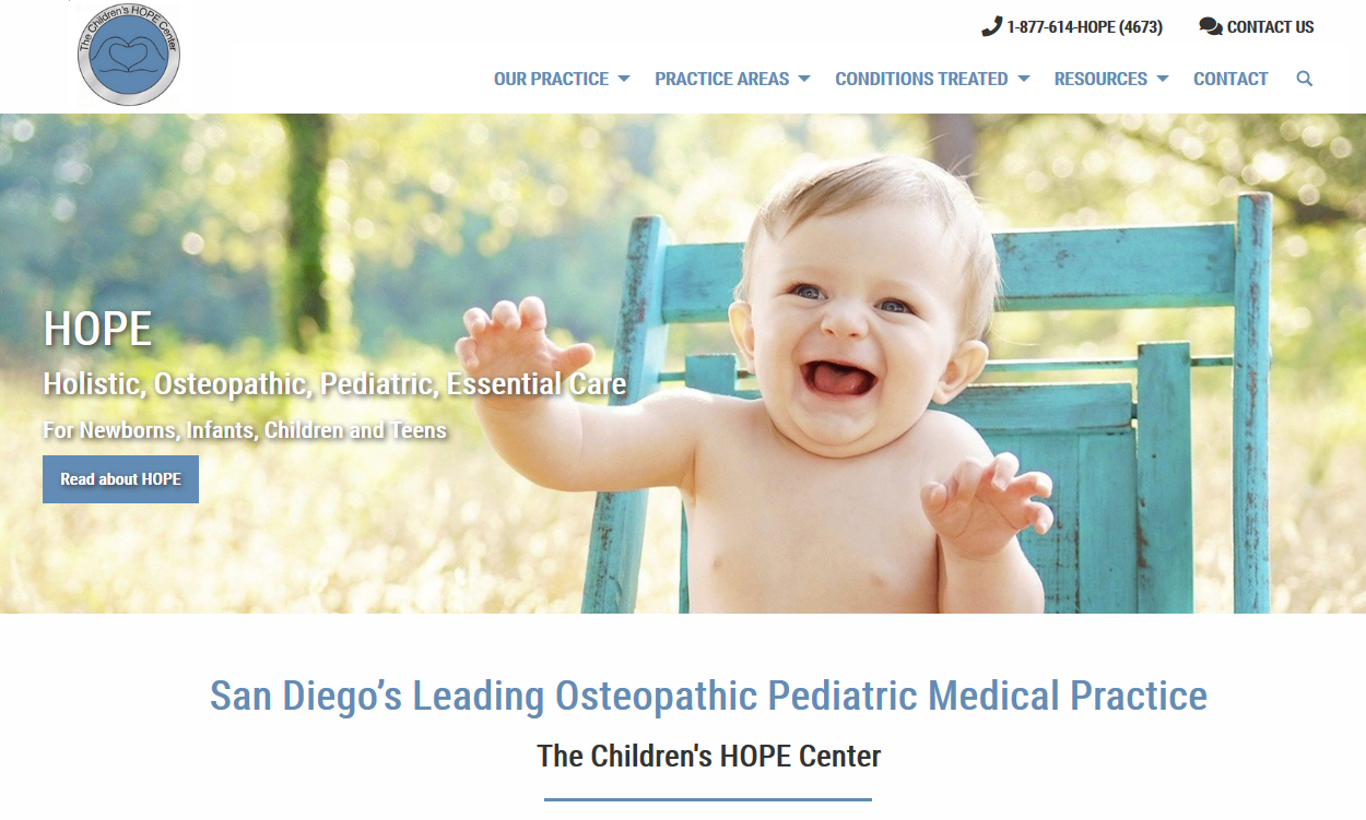 New Physician Website (The Children's HOPE Center)