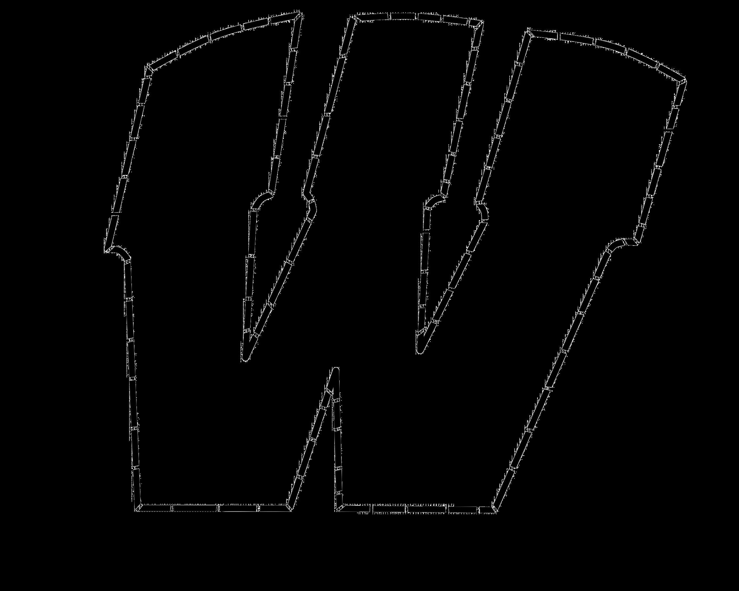 "Warren ""W"" Pumpkin Stencil"