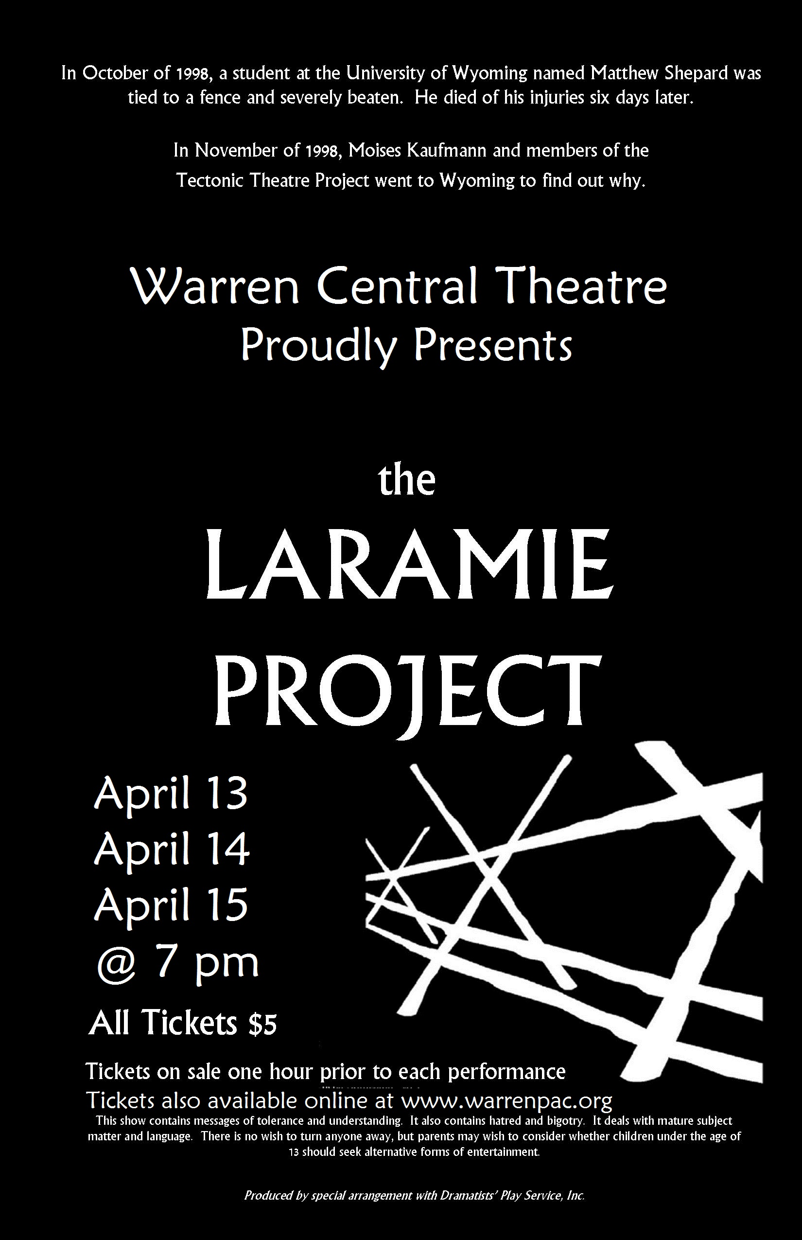 Warren Central Theatre presents The Laramie Project