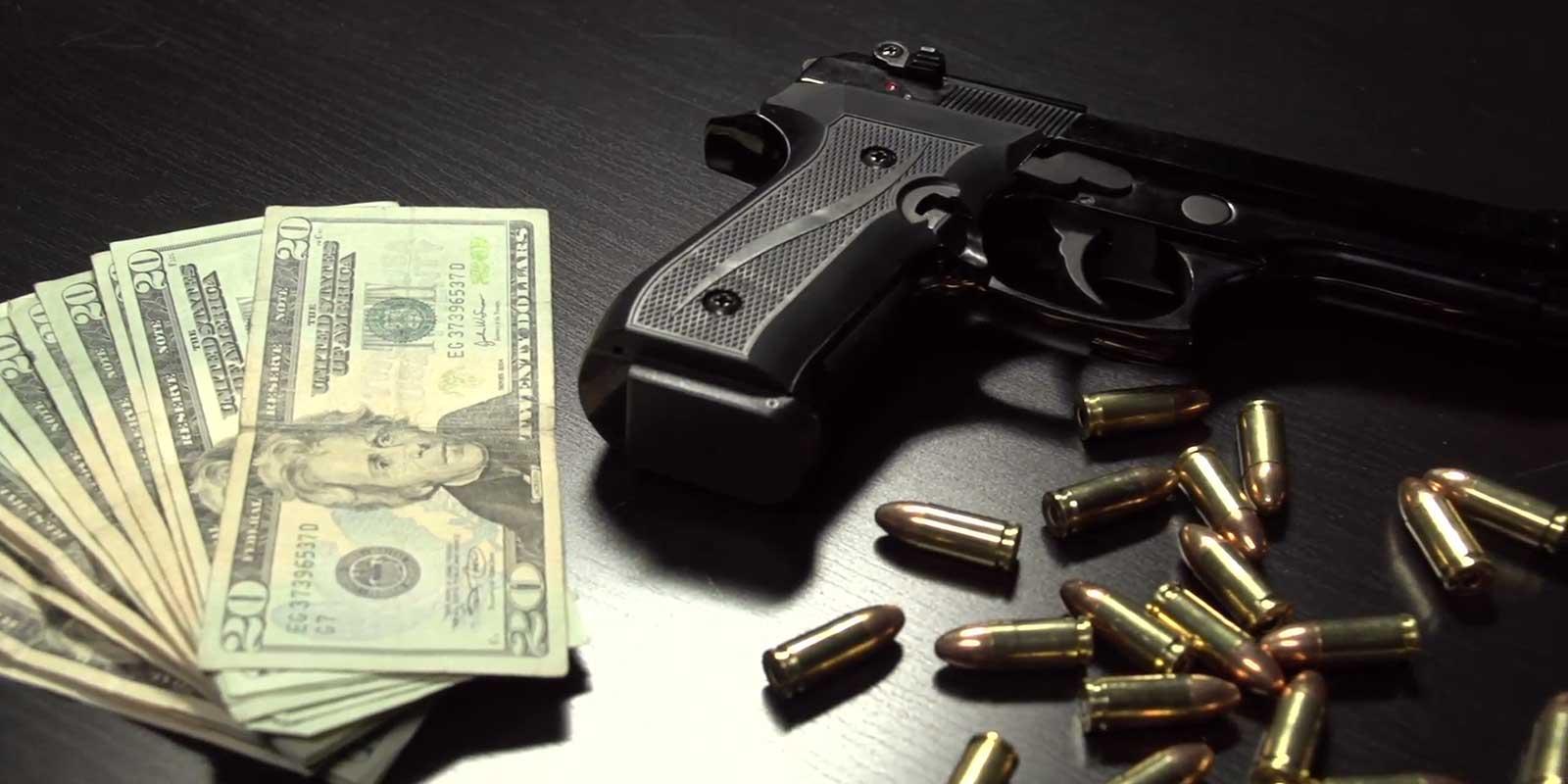 Money Bullets Gun Action Show