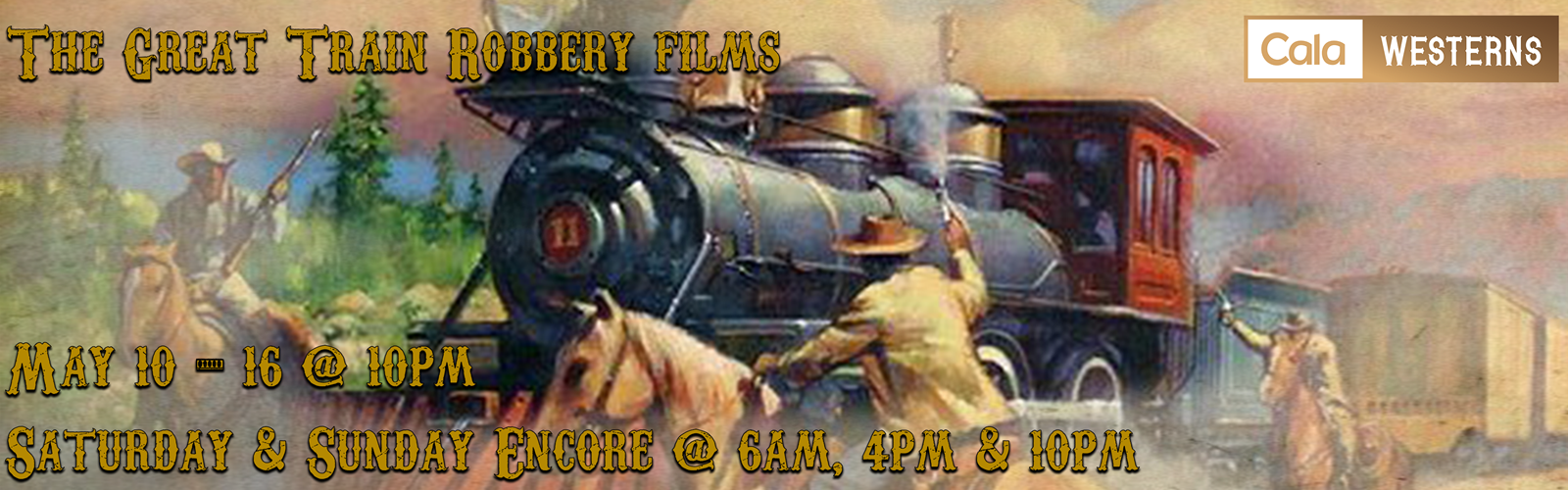 May Train Robbery Western Banner