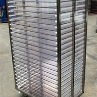 02 S.S. Rack w 24 30 x 20 Lexan-type Shelves, on wheels.jpg