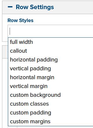 row-settings