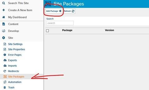 Start Package Installation