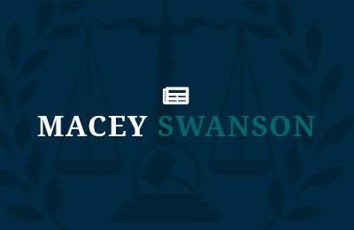 Macey Swanson logo with news icon to represent blog