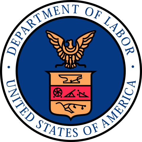 The seal of the United States Department of Labor