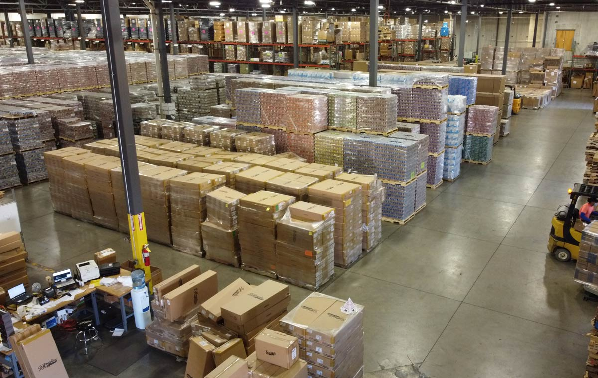 Draco warehouses anything from guitars to canned goods to items ready for amazon fulfillment