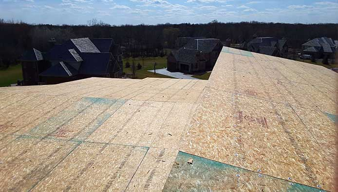 Roof Panels installed on Illinois Home Project
