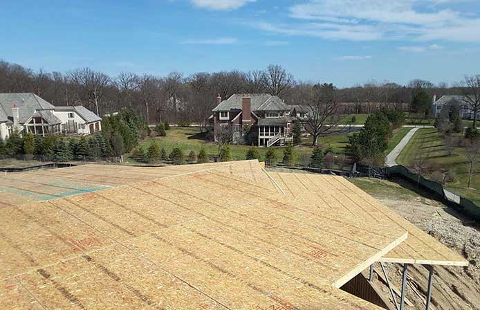 Roof Panels installed on Illinois Residential Building Project