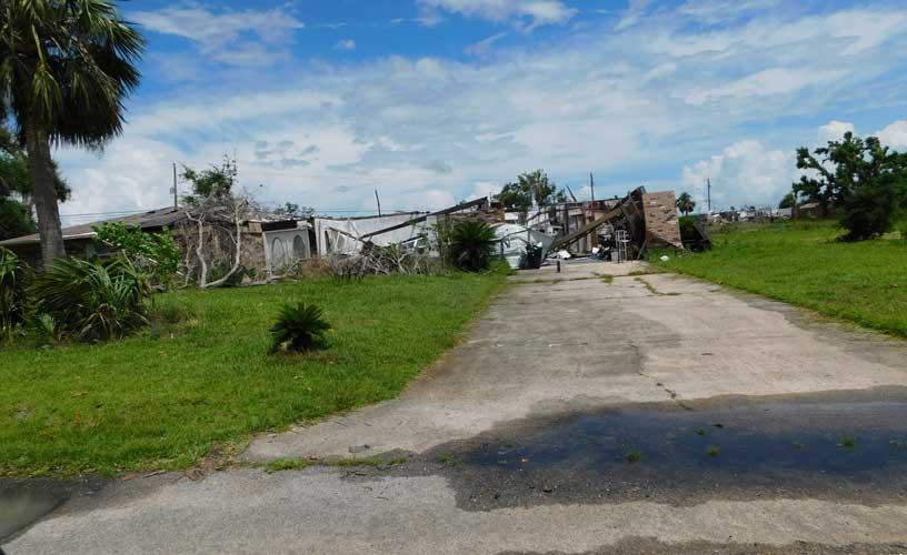 Panama City, Florida destruction from CAT5 Hurricane