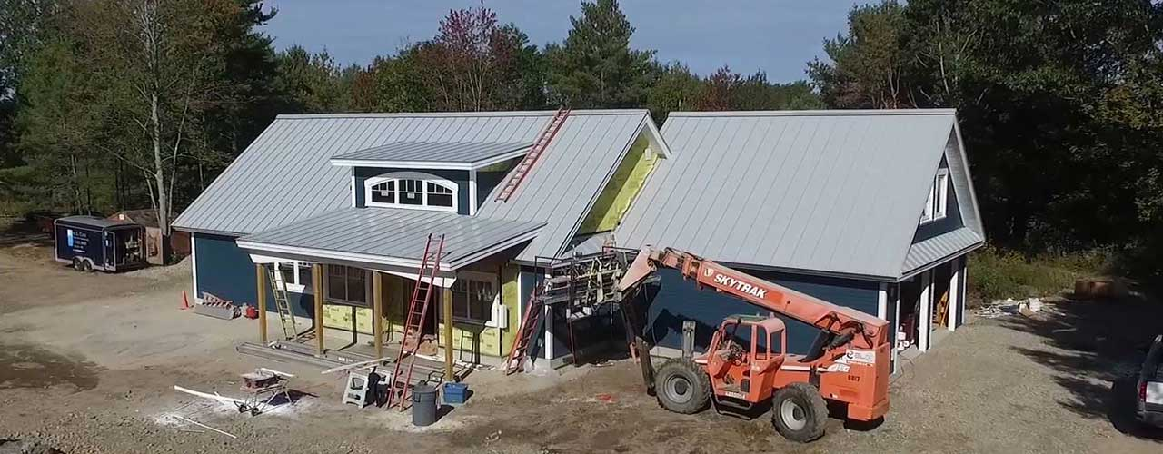 Home being built after being designed with Thermocore SIPs