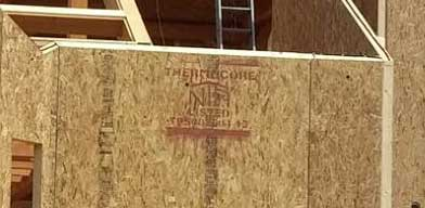 Thermocore stamped on structural insulated panel
