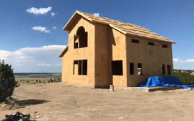 Residential Custom Home in Colorado using Thermocore SIPs for roof and walls