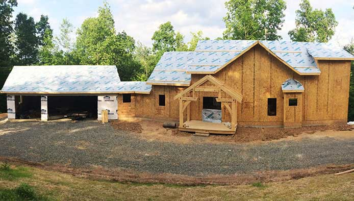 Virginia Timber Frame Home Project with Thermocore SIPs, a Residential Building Project