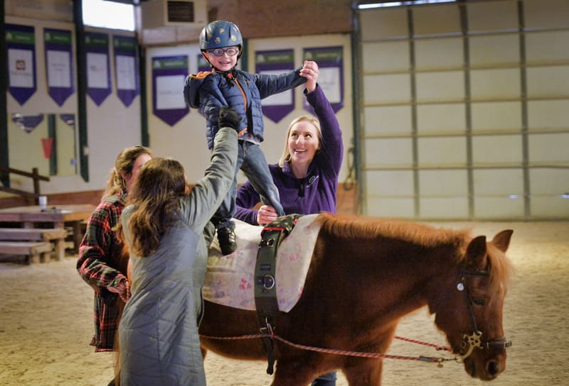 Jackson in occupational therapy | #hippotherapy