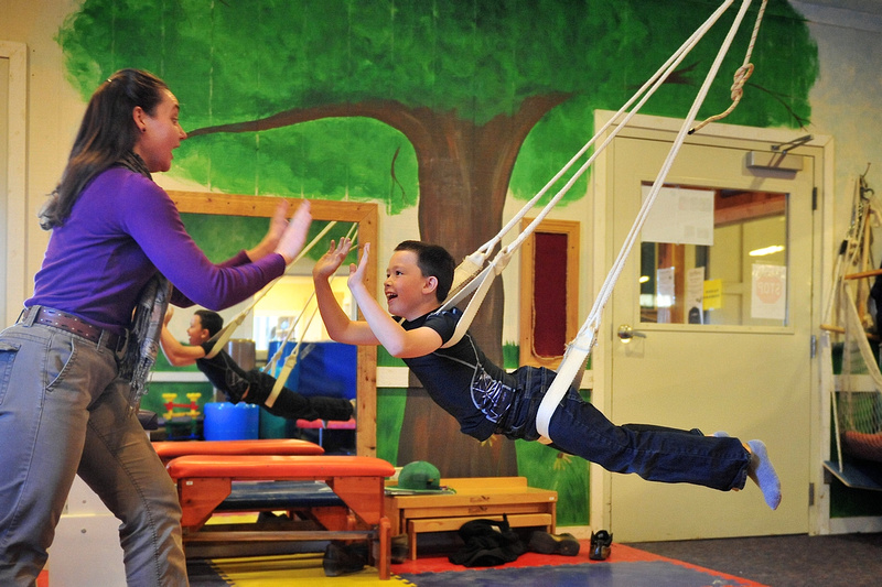 Occupational therapy with the four point swing
