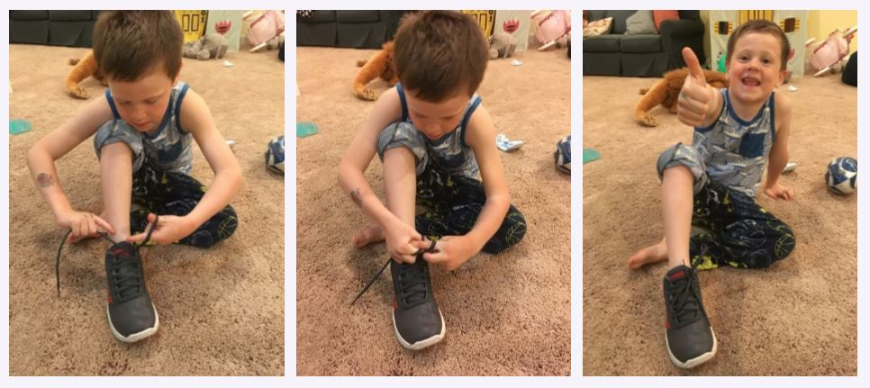 Kiddo Will shoelace collage