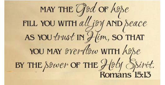 Romans 15:13 Hope