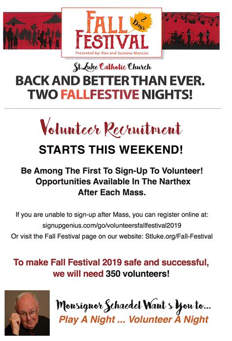 FF '19 volunteer recruitment flyer
