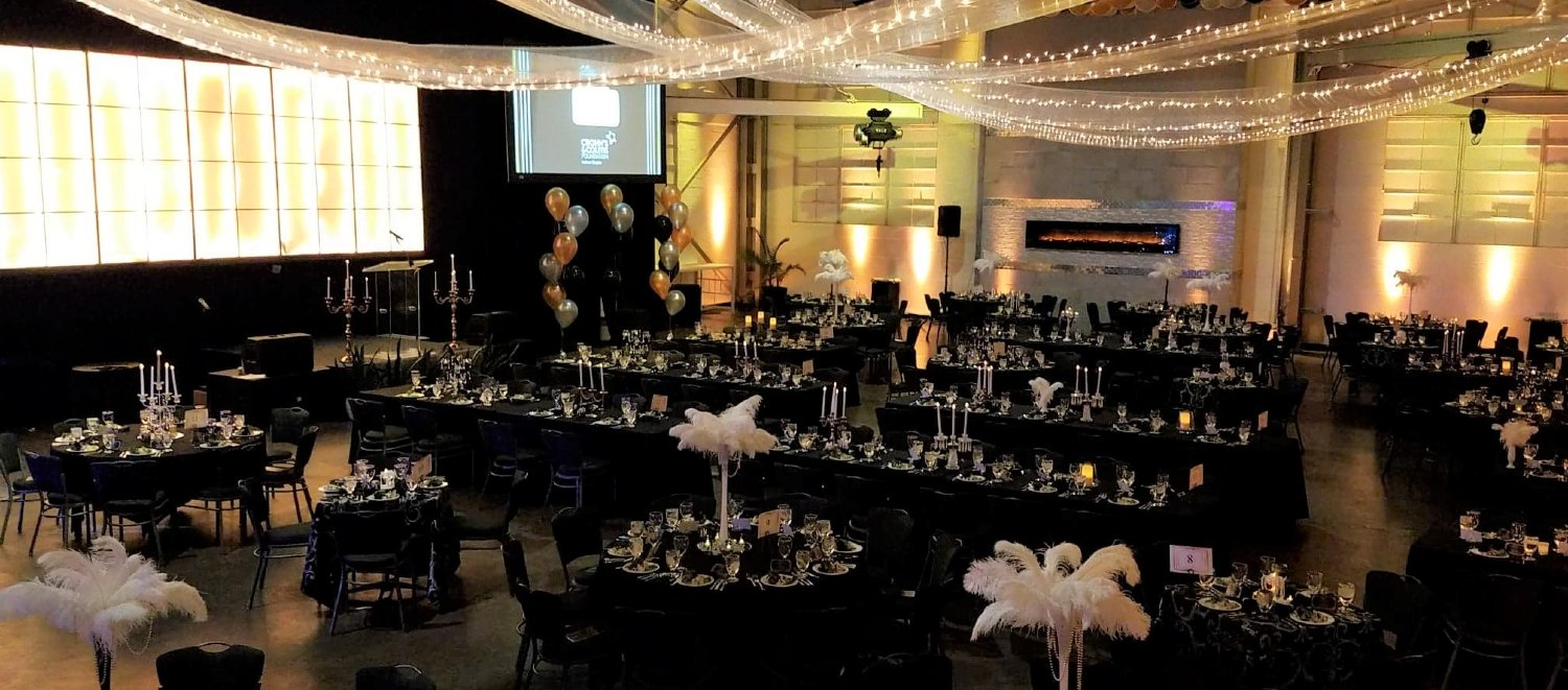 Non Profit Fundraiser Event Gala Downtown Indianapolis Great Gatsby Theme